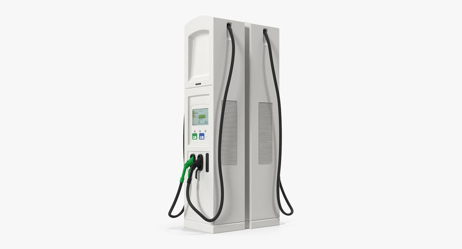 EV Charging Station royalty-free 3d model - Preview no. 2