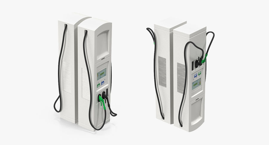EV Charging Station royalty-free 3d model - Preview no. 4