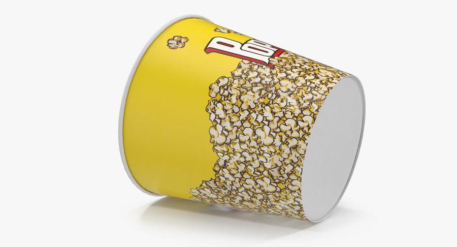 Big Popcorn Bucket royalty-free 3d model - Preview no. 8