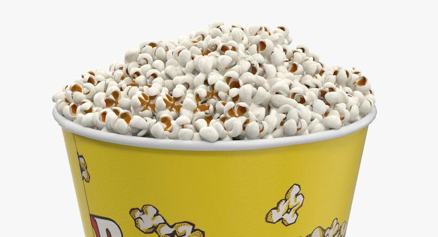 Big Popcorn Bucket royalty-free 3d model - Preview no. 6