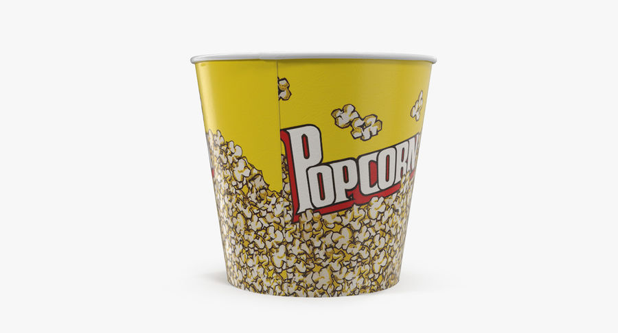 Big Popcorn Bucket royalty-free 3d model - Preview no. 7