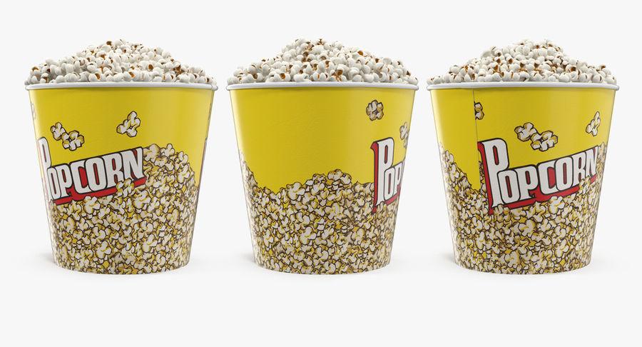 Big Popcorn Bucket royalty-free 3d model - Preview no. 5