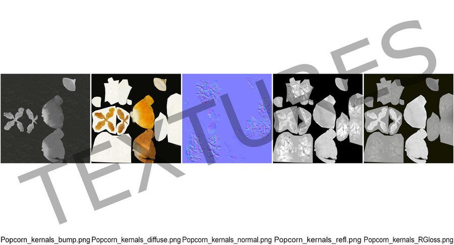 Big Popcorn Bucket royalty-free 3d model - Preview no. 12