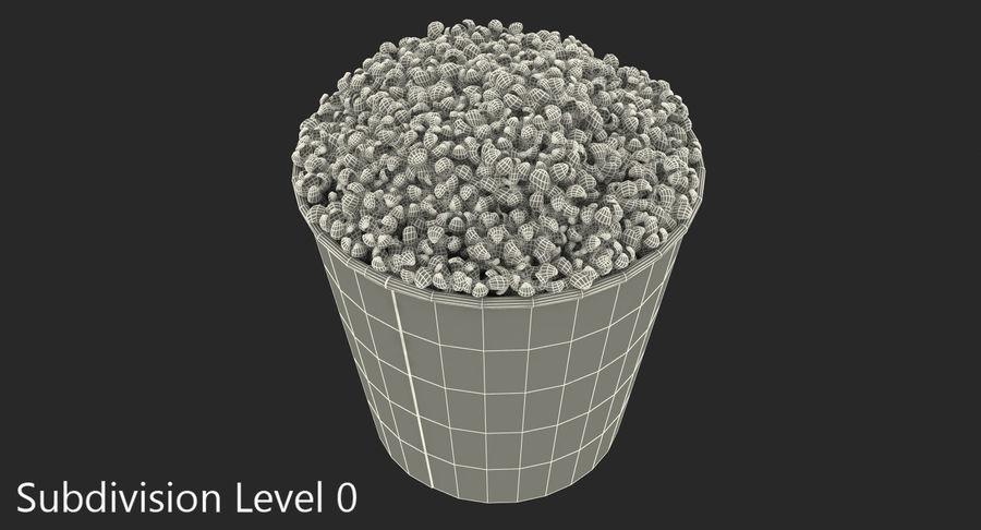 Big Popcorn Bucket royalty-free 3d model - Preview no. 9