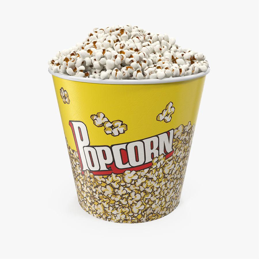 Big Popcorn Bucket royalty-free 3d model - Preview no. 1