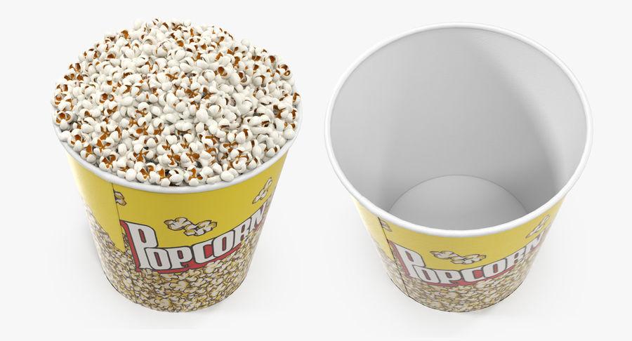 Big Popcorn Bucket royalty-free 3d model - Preview no. 4
