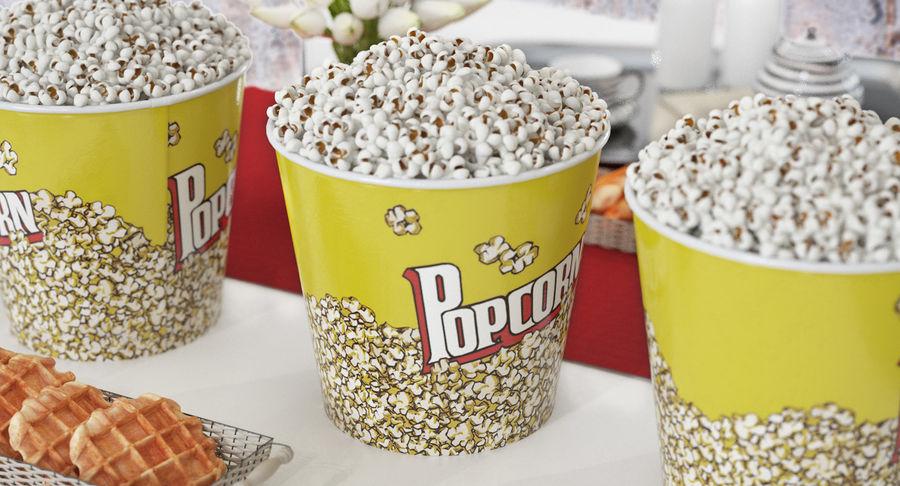Big Popcorn Bucket royalty-free 3d model - Preview no. 3