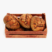 Brote im Karton 3d model