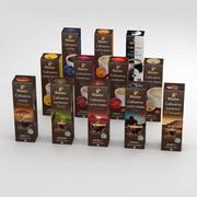 Tchibo Cafissimo 10pcs Boxes Collection 3d model