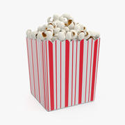 Paper Popcorn Container 3D Model 3d model