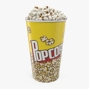 Model 3D wiadra ze średnim popcornem 3d model