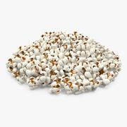 Tas de Popcorn 3d model