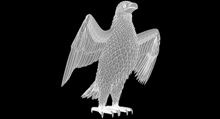 Eagle royalty-free 3d model - Preview no. 12