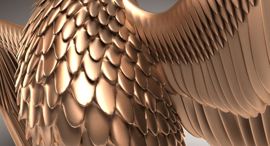 Eagle royalty-free 3d model - Preview no. 9