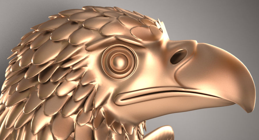 Eagle royalty-free 3d model - Preview no. 3