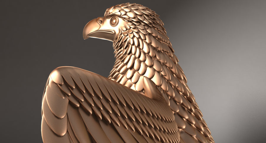 Eagle royalty-free 3d model - Preview no. 10