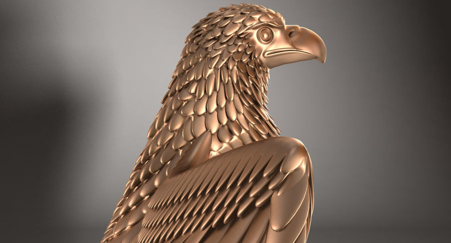 Eagle royalty-free 3d model - Preview no. 11