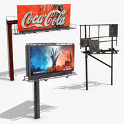 Billboards 3d model