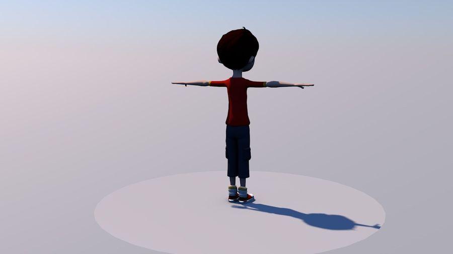 Menino árabe dos desenhos animados royalty-free 3d model - Preview no. 2