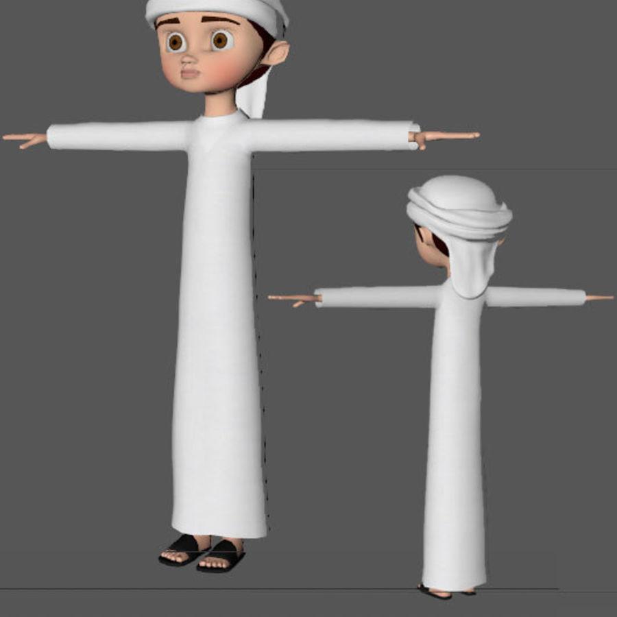 Menino árabe dos desenhos animados royalty-free 3d model - Preview no. 8