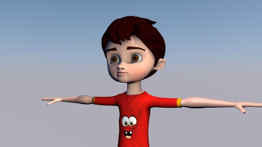 Menino árabe dos desenhos animados royalty-free 3d model - Preview no. 3