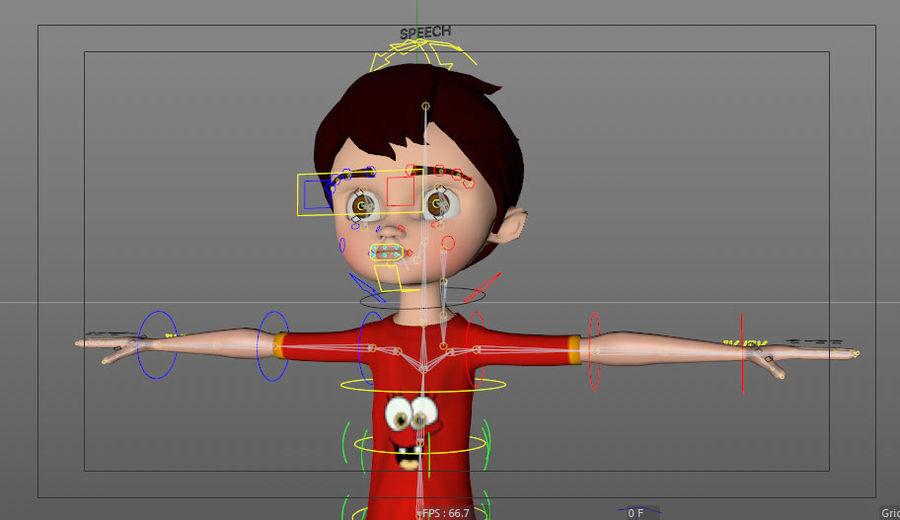 Menino árabe dos desenhos animados royalty-free 3d model - Preview no. 5
