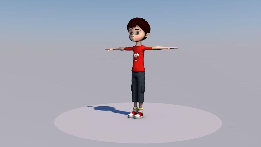 Menino árabe dos desenhos animados royalty-free 3d model - Preview no. 1