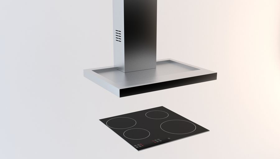 Modern Kitchen Electronics royalty-free 3d model - Preview no. 4
