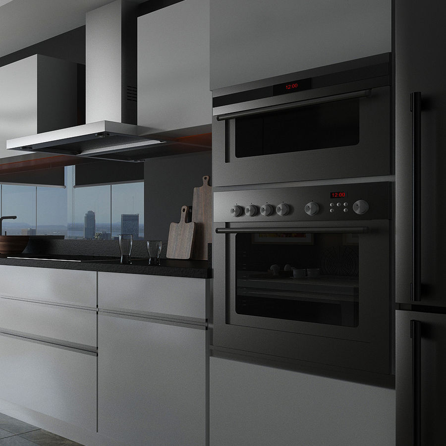 Modern Kitchen Electronics royalty-free 3d model - Preview no. 7