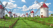 Meadow Spanish WindMills 3d model
