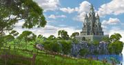 Hill Castle Environment 3d model