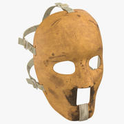 Eski hokey maskesi yıpranmış 3d model