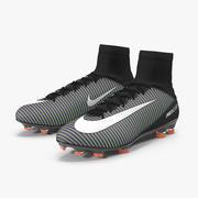 Negro Nike Mercurial Veloce Fútbol Cleats modelo 3d