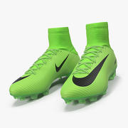 Green Football Cleats Nike Mercurial Veloce 3d model
