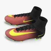 Zapatos De Fútbol Nike Mercurial Veloce Rojo modelo 3d