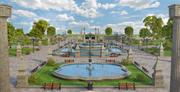 Garden Park Fountain 3d model