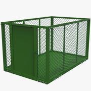 Almacenamiento en jaula para remolque modelo 3d