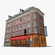 Photorealistic Classic Corner Building Amsterdam 3d model