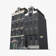 Modello 3D classico Amsterdam House fotorealistico 3d model