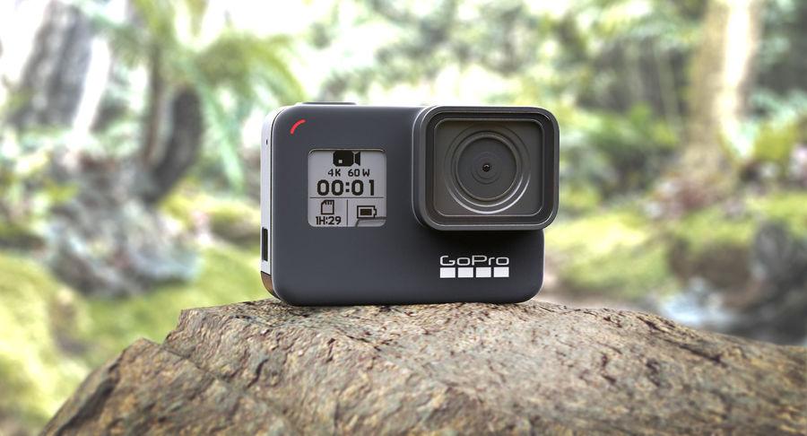 GoPro Hero7 Eylem Kamera royalty-free 3d model - Preview no. 3