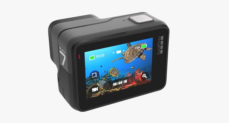 GoPro Hero7 Eylem Kamera royalty-free 3d model - Preview no. 5