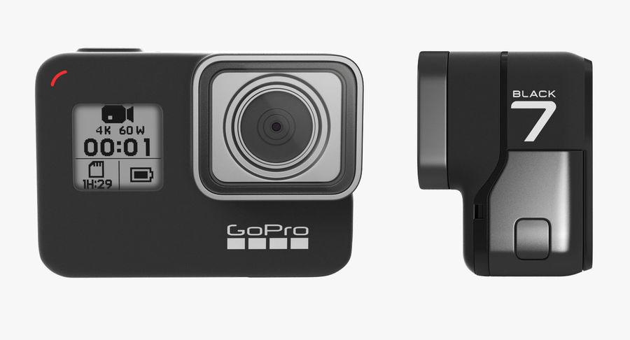 GoPro Hero7 Eylem Kamera royalty-free 3d model - Preview no. 9