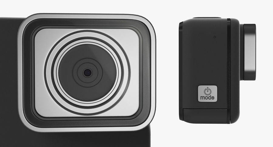 GoPro Hero7 Eylem Kamera royalty-free 3d model - Preview no. 4