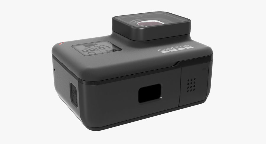 GoPro Hero7 Eylem Kamera royalty-free 3d model - Preview no. 8