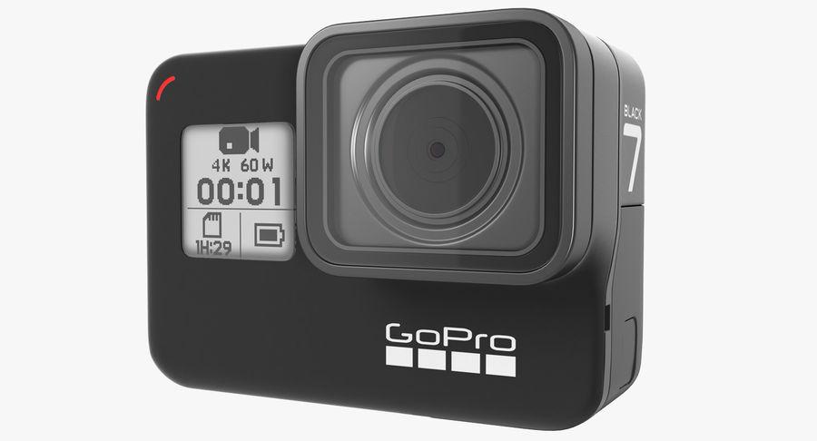 GoPro Hero7 Eylem Kamera royalty-free 3d model - Preview no. 2