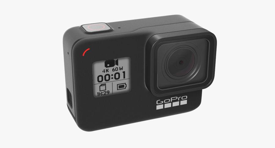 GoPro Hero7 Eylem Kamera royalty-free 3d model - Preview no. 6