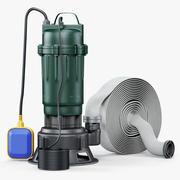 Zatapialna pompa wodna 3d model