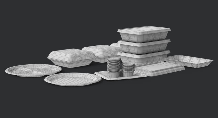 Imballaggio degli alimenti 4 royalty-free 3d model - Preview no. 39
