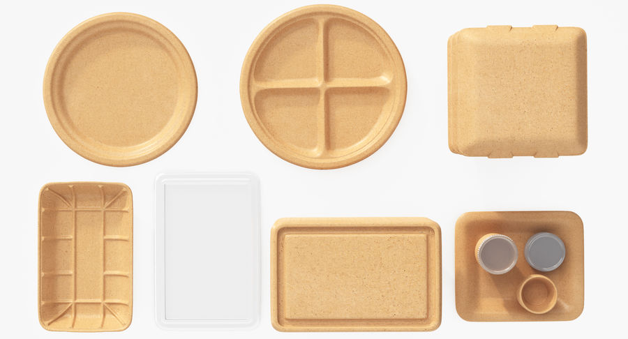 Imballaggio degli alimenti 4 royalty-free 3d model - Preview no. 19