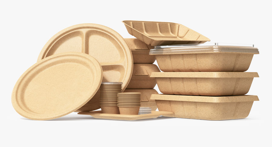 Imballaggio degli alimenti 4 royalty-free 3d model - Preview no. 8